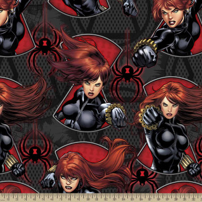 Marvel Black Widow Fleece Fabric By The Yard