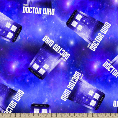 Doctor Who Police Box Fleece Fabric By the Yard