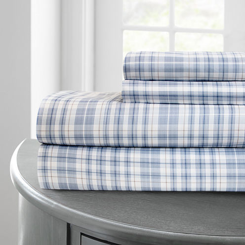 Pacific Coast Textiles Plaid Microfiber Wrinkle Resistant Sheet Set