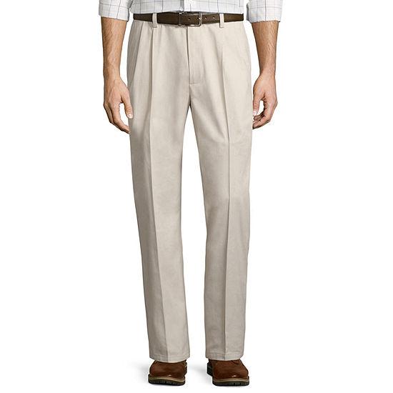 St. John's Bay® Easy-Care Pleat-Front Pants