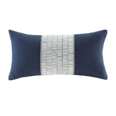 Nara Embroidered Cotton Throw Pillow