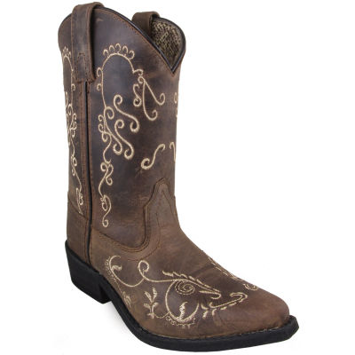 Smoky Mountain Girl's Jolene Waxed Distress Leather Cowboy Boot