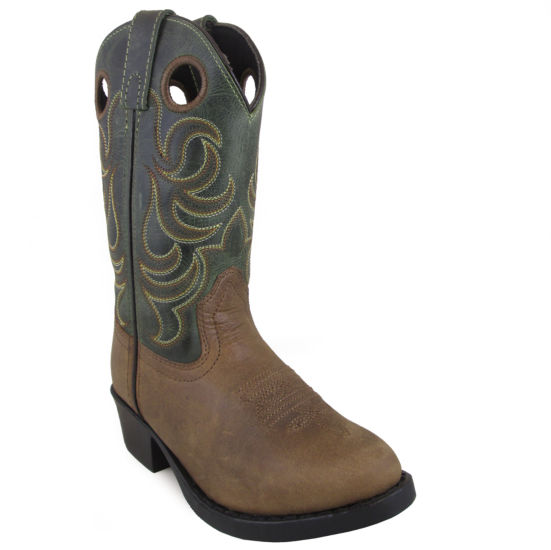 Smoky Mountain Kid's Henry Distress Crackle Leather Cowboy Boot