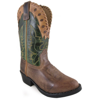 Smoky Mountain Kid's Reno Distress Crackle Leather Cowboy Boot