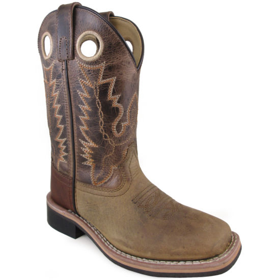 Smoky Mountain Kid's Jesse Distress Crackle Leather Cowboy Boot