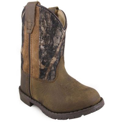 Smoky Mountain Toddler's Hopalong Distress LeatherSide Zipper Cowboy Boot Toddler