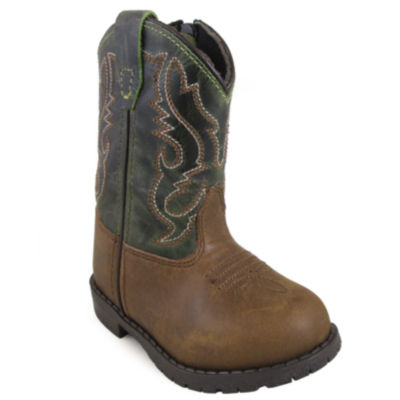 Smoky Mountain Kid's Hopalong Side Zipper DistressCrackle Leather Cowboy Boot Toddler
