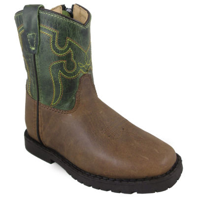 Smoky Mountain Kid's Autry Side Zipper Distress Crackle Leather Cowboy Boot Toddler