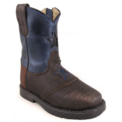 Smoky Mountain Kid's Autry Side Zipper Oil Distress Leather Cowboy Boot Toddler