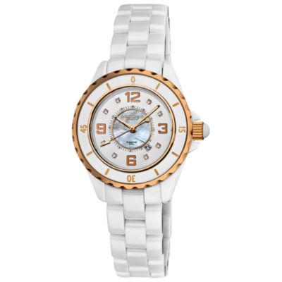 Akribos XXIV Unisex White Strap Watch-A-485wtr