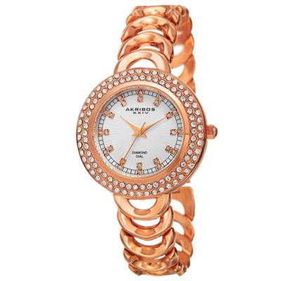Akribos XXIV Unisex Rose Goldtone Bracelet Watch-A-804rg