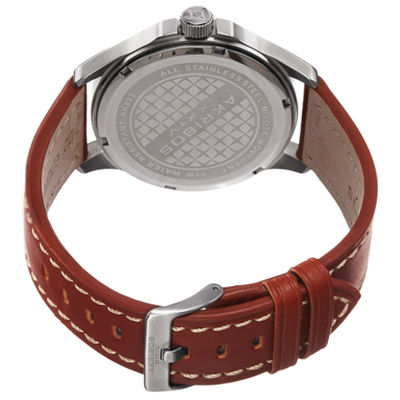 Akribos XXIV Unisex Brown Strap Watch-A-833ssbr