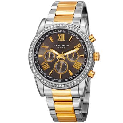 Akribos XXIV Unisex Two Tone Bracelet Watch-A-868ttg