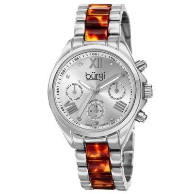 Burgi Unisex Silver Tone Bracelet Watch-B-130ss