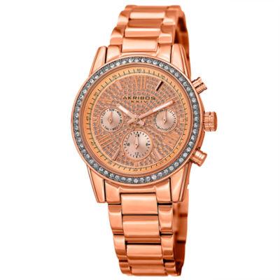 Akribos XXIV Unisex Rose Goldtone Bracelet Watch-A-926rg