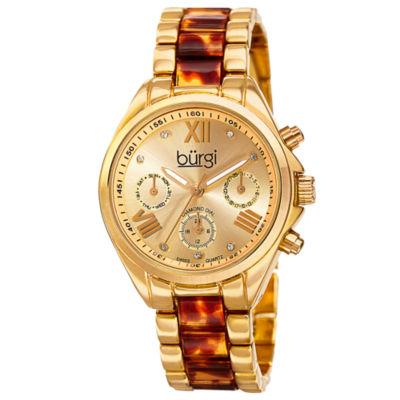Burgi Unisex Gold Tone Bracelet Watch-B-130yg