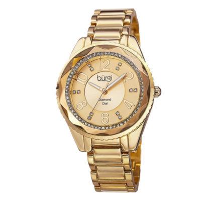 Burgi Unisex Gold Tone Bracelet Watch-B-132yg