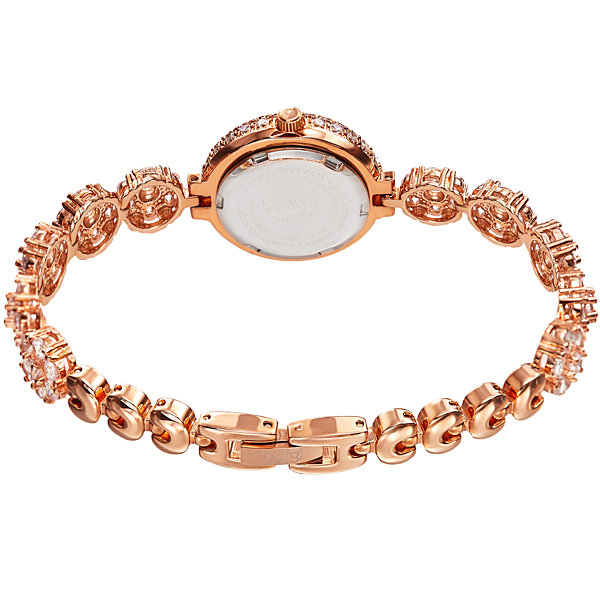 Burgi Unisex Rose Goldtone Bracelet Watch-B-139rg