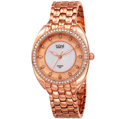 Burgi Unisex Rose Goldtone Bracelet Watch-B-145rg