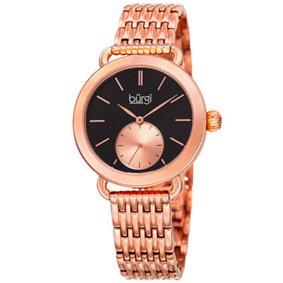 Burgi Unisex Rose Goldtone Bracelet Watch-B-153rg