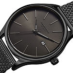Akribos XXIV Unisex Adult Black Stainless Steel Strap Watch-A-959bkgn