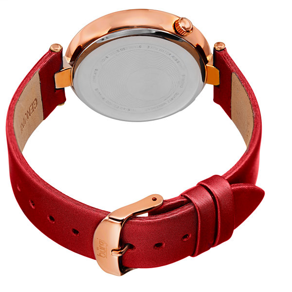 Burgi Unisex Red Strap Watch-B-155rd
