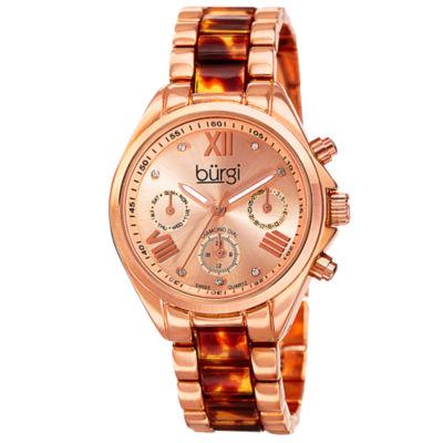 Burgi Unisex Rose Goldtone Bracelet Watch-B-130rgbr