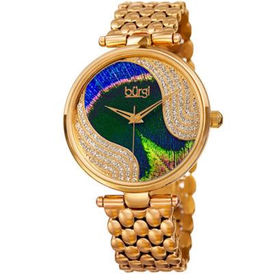 Burgi Unisex Gold Tone Bracelet Watch-B-162yg