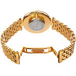 Burgi Set With Swarovski Crystals Unisex Adult Crystal Accent Gold Tone Stainless Steel Bracelet Watch-B-162yg