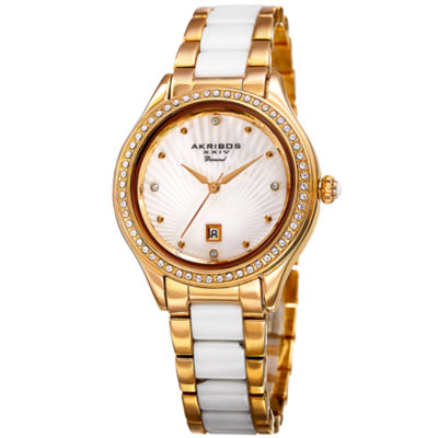 Akribos XXIV Unisex Gold Tone Bracelet Watch-A-977yg