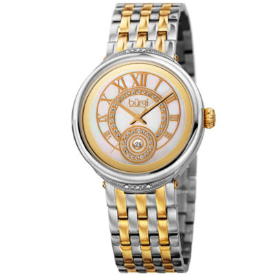Burgi Unisex Two Tone Bracelet Watch-B-164ttg