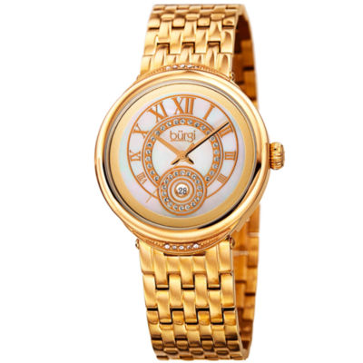 Burgi Unisex Gold Tone Bracelet Watch-B-164yg