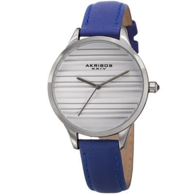 Akribos XXIV Unisex Blue Strap Watch-A-1005bu