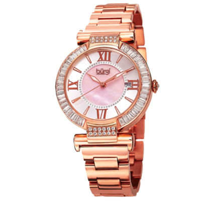 Burgi Unisex Rose Goldtone Bracelet Watch-B-082rg