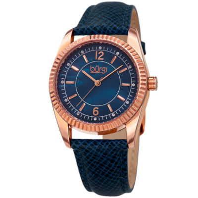 Burgi Unisex Blue Strap Watch-B-167bu