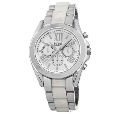 Burgi Unisex Silver Tone Bracelet Watch-B-094ss