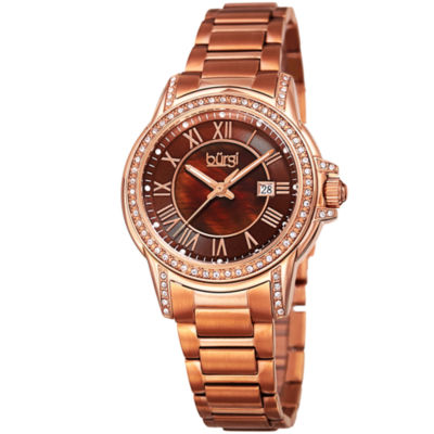 Burgi Unisex Rose Goldtone Bracelet Watch-B-168rgbr
