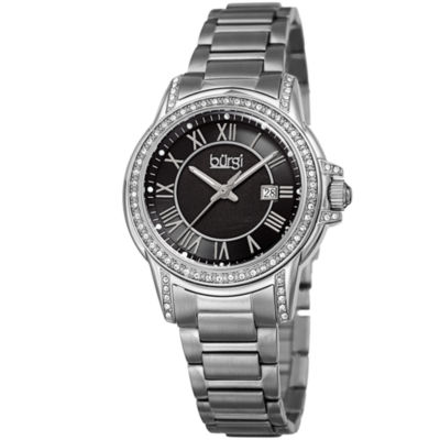 Burgi Unisex Silver Tone Bracelet Watch-B-168ssb