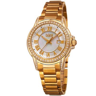 Burgi Unisex Gold Tone Bracelet Watch-B-168yg