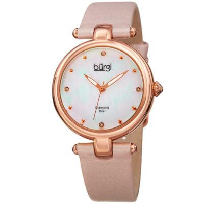 Burgi Unisex Pink Strap Watch-B-169pk