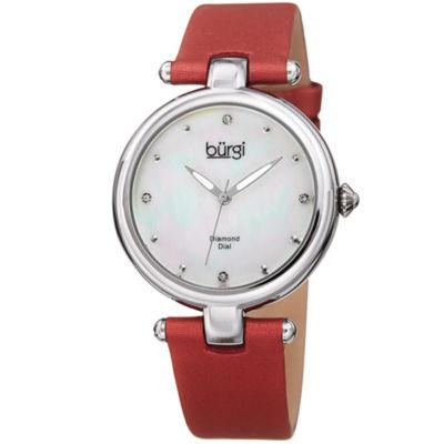 Burgi Unisex Red Strap Watch-B-169rd