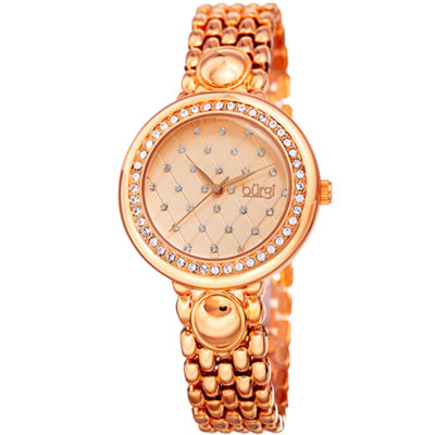 Burgi Unisex Rose Goldtone Bracelet Watch-B-170rg