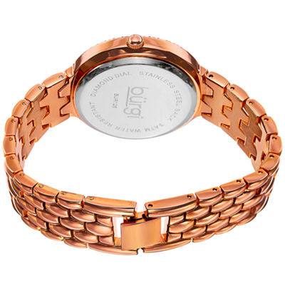 Burgi Unisex Rose Goldtone Bracelet Watch-B-125rg