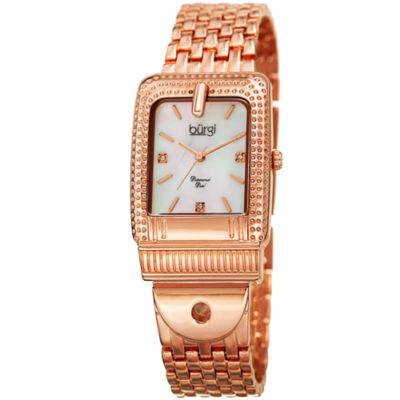 Burgi Unisex Rose Goldtone Bracelet Watch-B-171rg