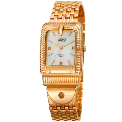 Burgi Unisex Gold Tone Bracelet Watch-B-171yg