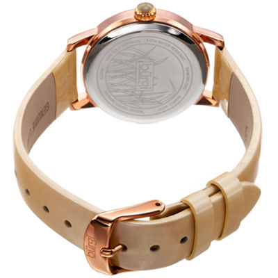 Burgi Unisex White Strap Watch-B-173gld