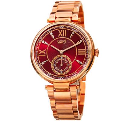 Burgi Unisex Rose Goldtone Bracelet Watch-B-175rg