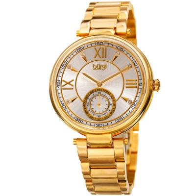 Burgi Unisex Gold Tone Bracelet Watch-B-175yg