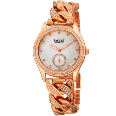 Burgi Unisex Rose Goldtone Bracelet Watch-B-177rg