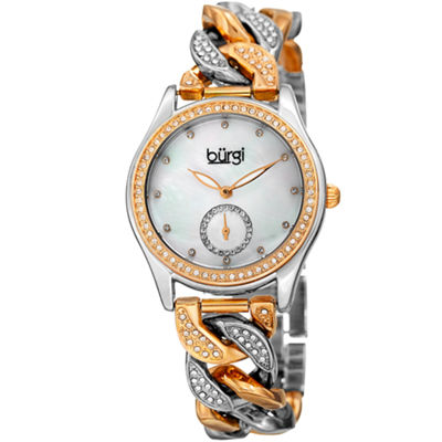 Burgi Unisex Two Tone Bracelet Watch-B-177ttg